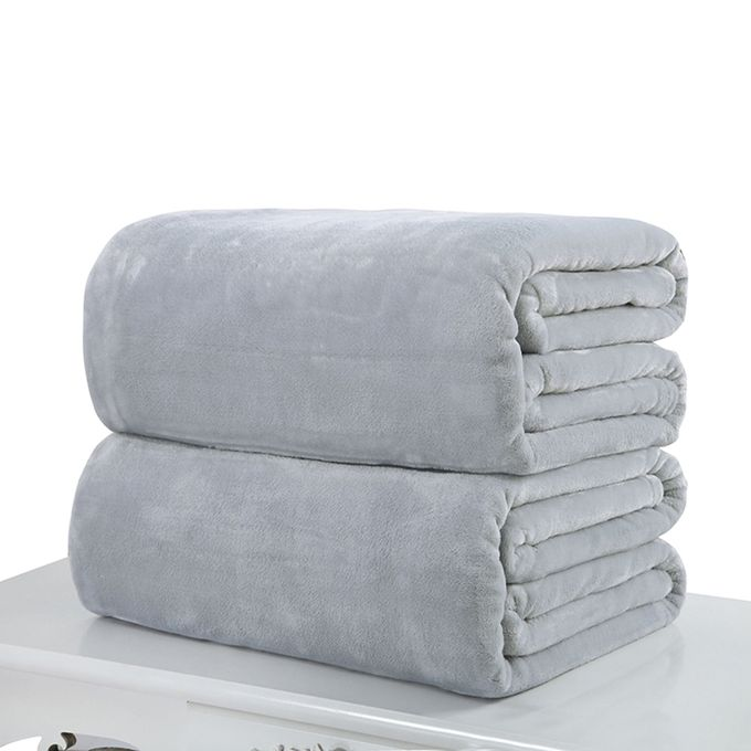 70*100cm Soft Micro Plush Fleece Blanket Sofa Throw Rug Travel Warm Blankets Color:Gray Dimensions:70 * 100cm –  مصر