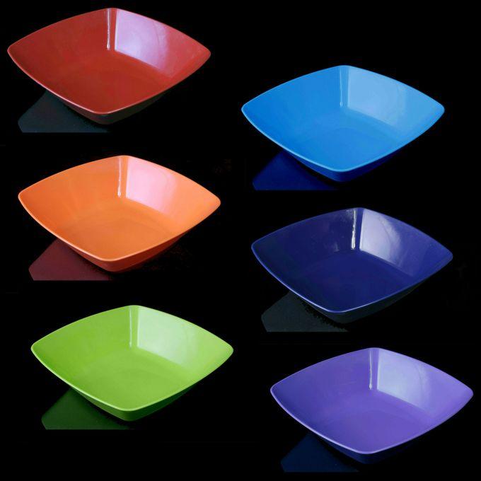 طقم بوله مربعة كبيرة الراينبو – 6 قطع – احمر-برتقالي-بستاج-ازرق لبني-كحلي-موف فاتح –  مصر