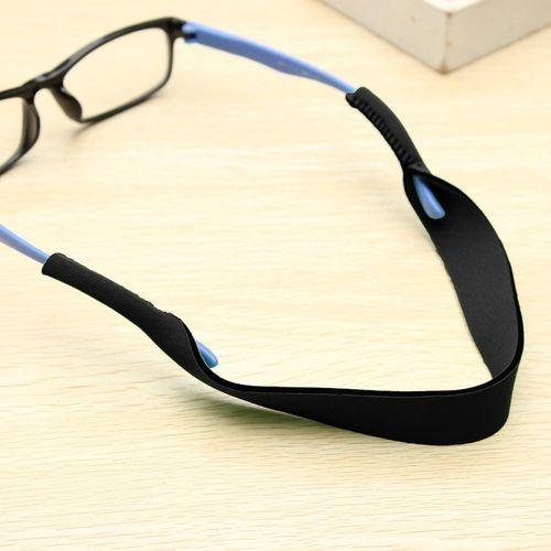44628126648 Universal Sports Band Neck Cord Strap Sunglasses Eye Reading Glasses String  Lanyard Holder (Black)