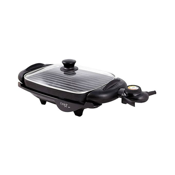 UEG-190 2 in 1 Electrical Grill and Griddle with Glass Lid - Black