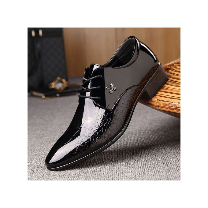 26fb4693f2cd2 2018 New Men s Dress Formal Oxfords Leather Shoes Business Casual Shoes