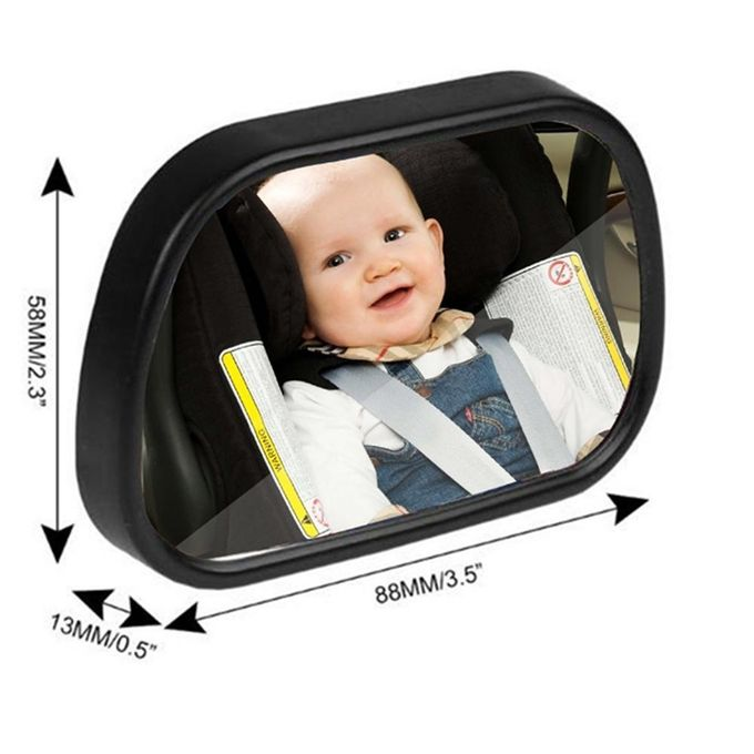 Car Back Seat Mirror Shatterproof Safety Rear View Baby MirrorView Infant