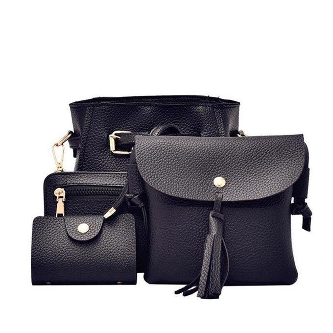 8a9cabf6948e 4pcs Women Fashion Composite Bag Handbag Wallet Shoulder Crossbody Bags -Array