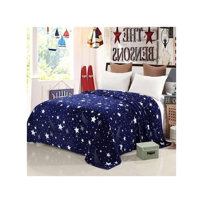 Fashionable Comfortable Flannel Blanket Soft Warm Plush Blanket Bed Sheet Wedding Housewarming Gift  Style:Bright Stars Dimensions:180 * 200cm –  مصر