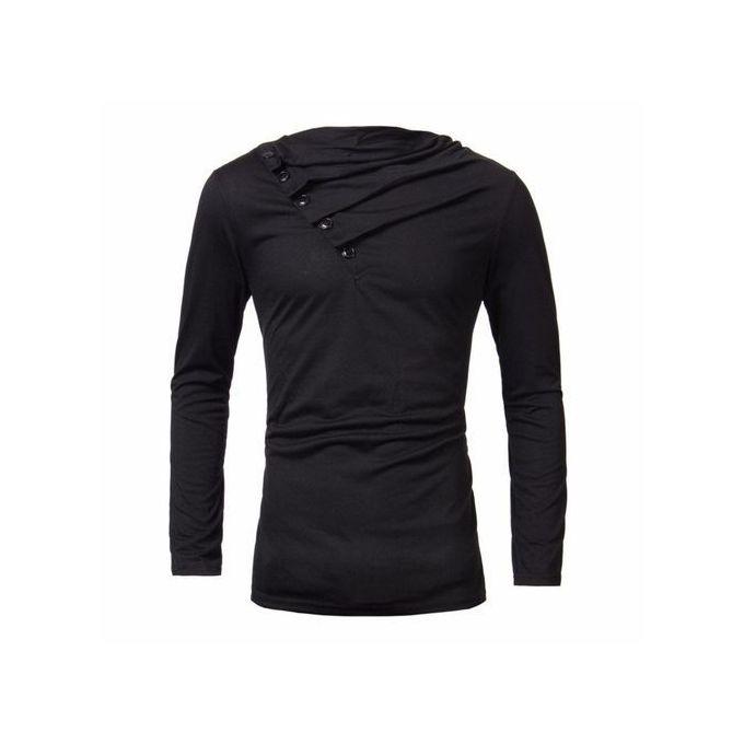 e5ce427b2 Autumn Men High-Elastic Cotton T-shirts Men's Long Sleeve Tight T-shirt