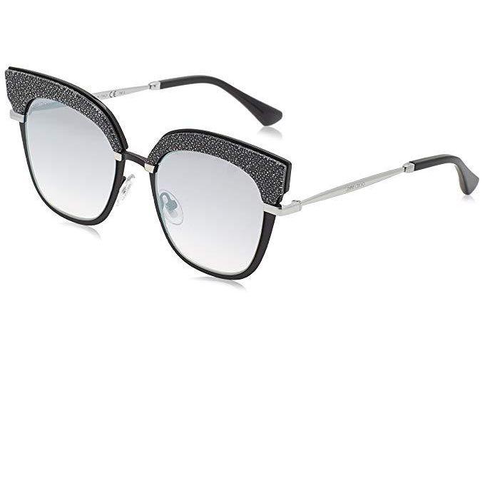4222f994b0 Sale on Jimmy Choo Rosy Sunglasses In Black Gold Glitter (GRY SF SLV ...