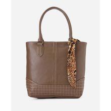 088a7b2b19f2 Leather Women Handbag - Coffee