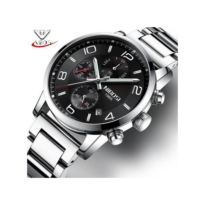 NIBOSI Watch Men Chronograph Quartz Clock Stainless Steel Mens Watches Top  Brand Luxury Business Watch Hodinky e7f25864d8e