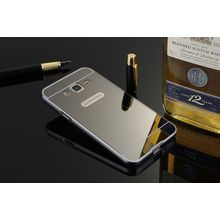 Case For Samsung Galaxy Grand Duos I9082-Luxury Metal Bumper Frame And Mirror PC Back