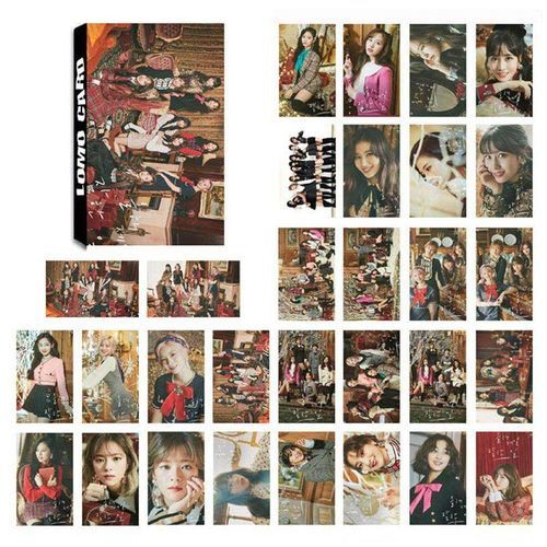 30Pcs/Set Kpop TWICE Yes Or Yes Paper LOMO Photo Card Fans Collective  Photocard Students Stationery Set