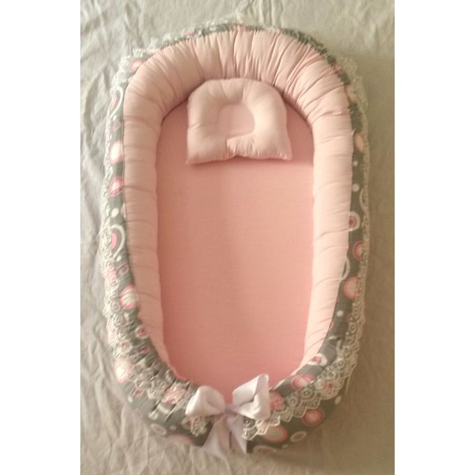 Baby Bed – Pink & Grey –  مصر
