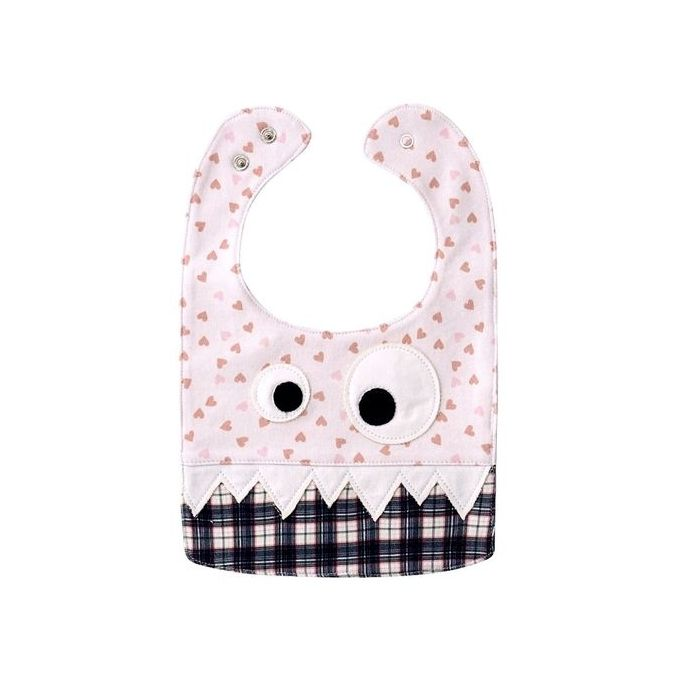 Baby Bibs Pure Cotton Saliva Towel Kids Pinafore Specification:11 Pink Hearts + Coffee Lattices –  مصر
