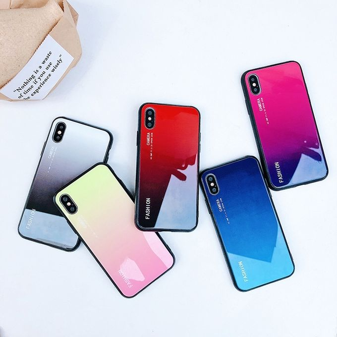 35aa16474 Sale on Gradient Color Glass Case For Xiaomi Redmi Note 6 Pro (Blue ...