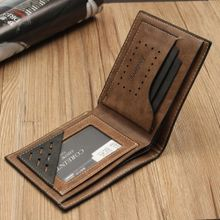 224c97a3c15e8 Simple Fashion Mens Leather Wallet Credit ID Card Holder Slim Coin Purse  Pocket Coffee