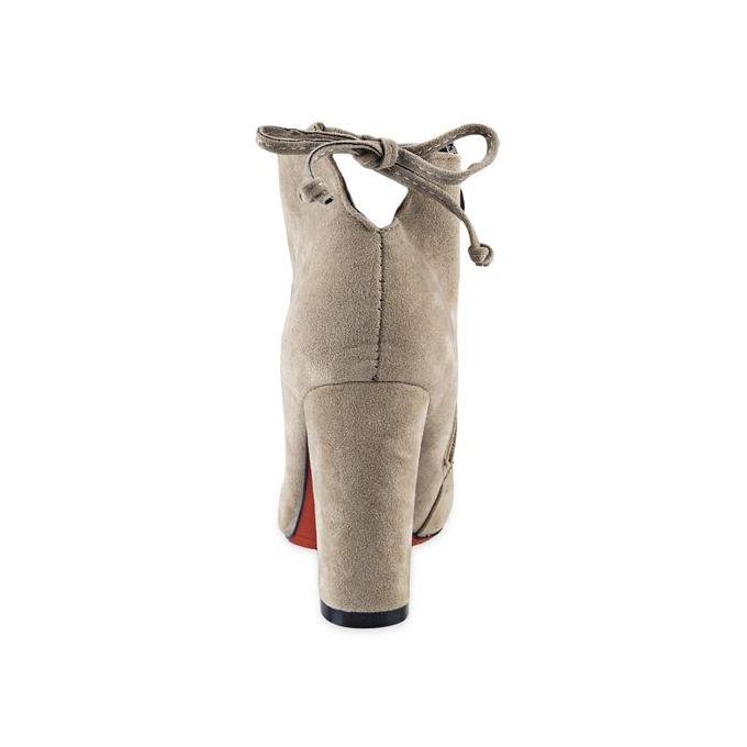 Bowknot Ladies High Heel Boots - Khaki
