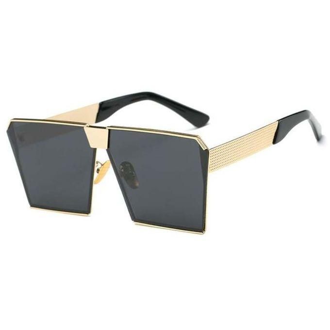 e5dfae3c4 New Woman Oversized Square Sunglasses Metal Frame Flat Top Street Fashion  Sunglasses Lenses