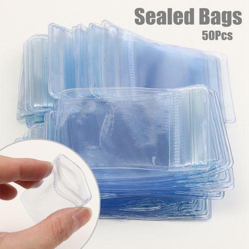 50Pcs Upscale PVC Jewellery Screw Ziplock Seal Bag Plastic Reclosable  2 4x1 6''