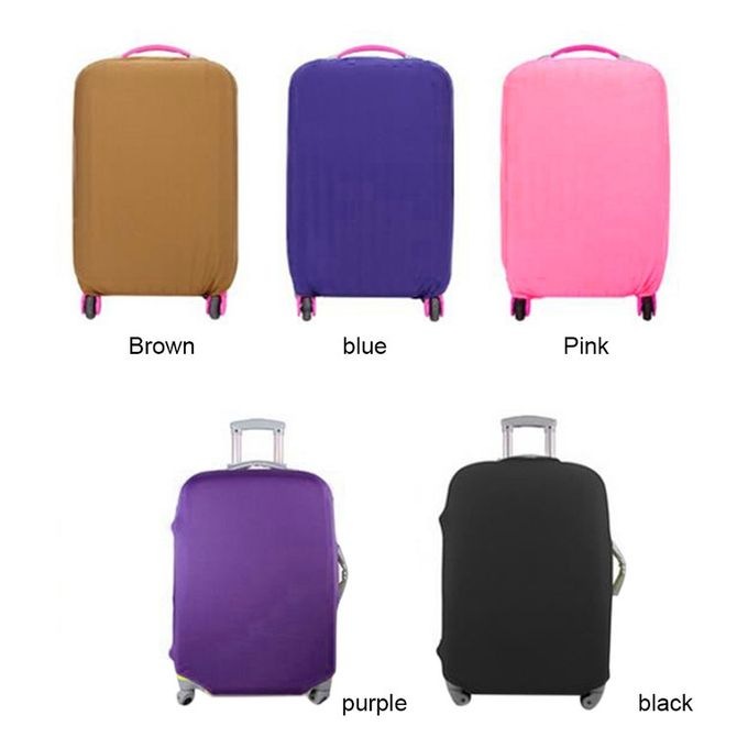 9320ca28a9 Home-Travel High Elastic Solid Color Dust-proof Luggage Suitcase Protective  Cover Black