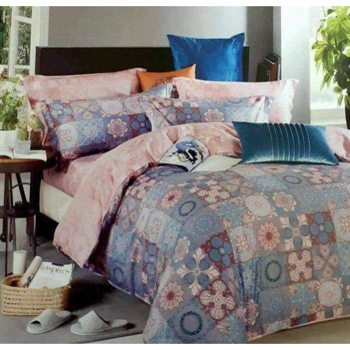 Printed Bed Linen Set – 4 Pcs – Mulicolor –  مصر