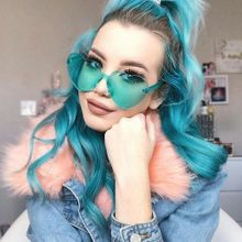 b170200e2 Generic Women Fashion Heart-shaped Shades Sunglasses Integrated UV Candy  Colored Glasses A2