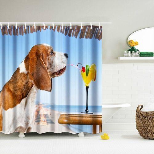 Digital Print Waterproof And Mildewproof Shower Curtain Size 180180 CM