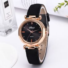 1efb1f17e4b00 Fashion Women Leather Casual Watch Luxury Analog Quartz Crystal Wristwatch  Artificical