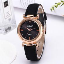 c5954356578ea Fashion Women Leather Casual Watch Luxury Analog Quartz Crystal Wristwatch  Artificical