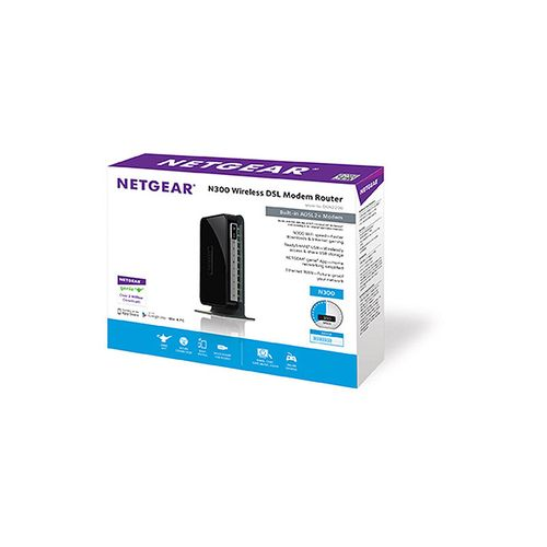 DGN2200 N300 WiFi DSL Modem Router - Black