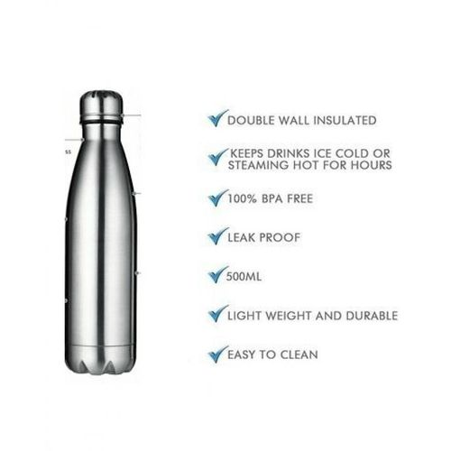 353448e494 Sale on Isolated Water Bottle - 750 Ml - Silver | Jumia Egypt