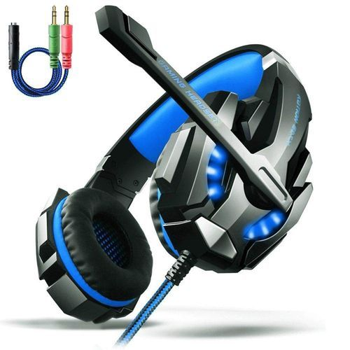 Gaming Headset PS4, AOSO G9000 LED Light Gaming Headphone Stereo Noise  Cancelling For PS4 PC Laptop Xbox One With Mic & Volume Control And 3 5mm  Audio