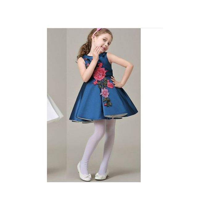 8490ea0a5 Sale on Baby Girls s Party Dress Sleeveless Rose Corsage Trim Formal ...