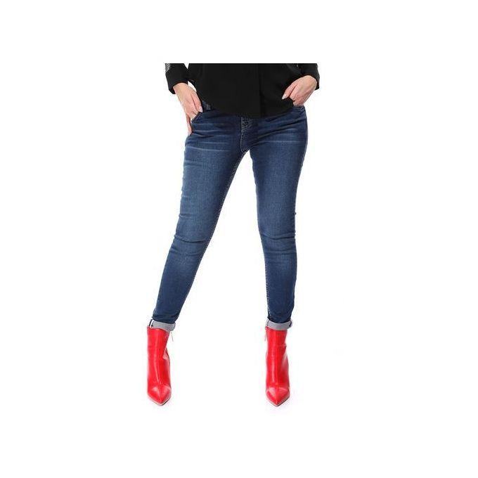 acf850b09 بنطلون جينز سكيني ساده - ازرق داكن - Jumia مصر