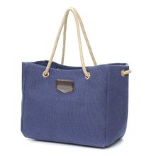 903ab8964d3c Fashion Women Casual Canvas Shopping Bag Handbag Shoulder Tote Messenger  Pouch Blue