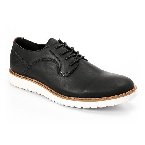 Men Casual To Business Derby Shoes - Black