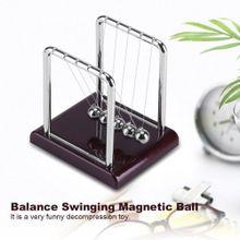2b7a0c34e Steel Balance Swinging Magnetic Ball Cradle Physics Science Pendulum Desk  Fun Toy Gift