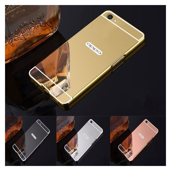 best service a354b 6969d Mirror Case For Oppo A71 - Gold