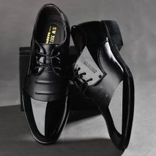 3d021da7002bc Xiuxingzi Fashion Men Business Leather Shoes Casual Pointed Toe Shoes Male  Suit Shoes