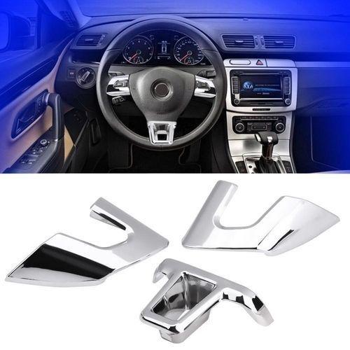 689f230408872 3Pcs Car Steering Wheel Cover Trim For VW Jetta Sagitar GOLF 6 Bora ...