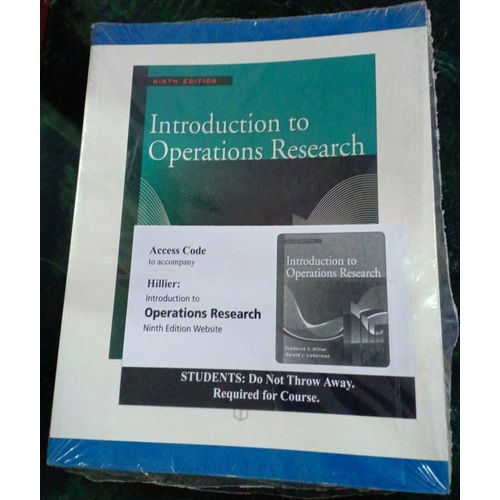 Introdction To Operations Research