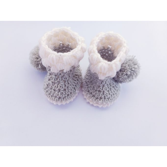 Sale On Stylish Baby Booties Crochet Off Whitelight Oil Jumia Egypt