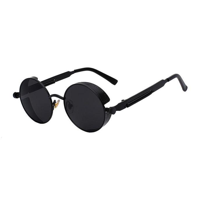 ae67feec8 Gothic Steampunk Sunglasses For Women Men Round Lens Metal Frame(Black Box  Gray Sheets)