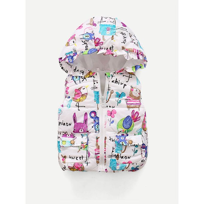 41d9012798 Sale on Girls Cartoon Print Hooded Vest | Jumia Egypt