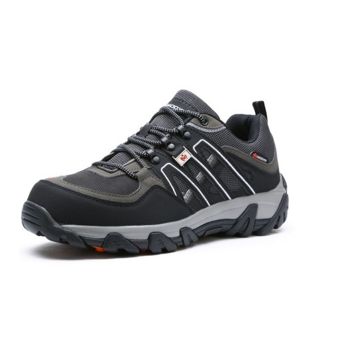 c804edf8a84 Men Safety Shoes Breathable Hiking Boots Steel Toe Work Boots - Black