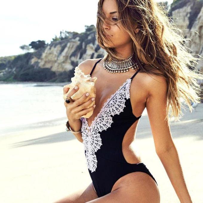 8b5601cf9f Tectores Sexy Women One Piece Swimsuit Push Up Padded Bikini Monokini  Swimwear Beachwear Gift