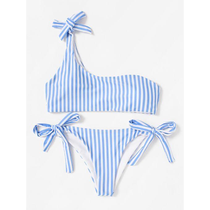 1ef8378ae5 Sale on Tie Side One Shoulder Striped Bikini Set | Jumia Egypt