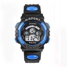 b69cf67b3 Waterproof Children Boy Digital LED Quartz Alarm Date Sports Wrist Watch  Blue