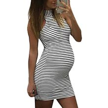 983f8eb3b5b4c Duanxinyv Fashion Womens Pregnants Nursing Baby For Maternity Stripe Sexy  Mini Dress