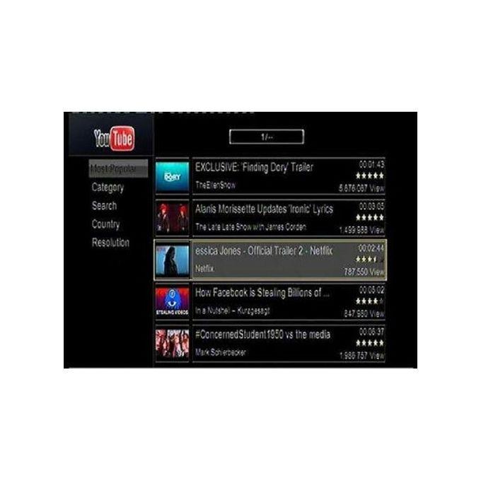 777 - Digital Satellite Receiver Mini HD 2-USB Port - Black