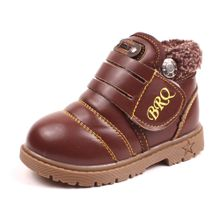 7d3d29ac8 Infant Toddler Baby Girls Boys Kids Winter Thick Snow Boots Leather Shoes  BW 21 - Brown