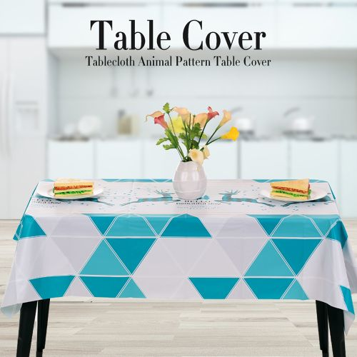 Tablecloth Animal Pattern Table Cover PVC Dust-Proof Water-proof For Kitchen Dinning Tabletop Decoration
